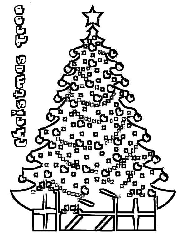 christmas trees on christmas eve coloring pages