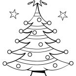 Christmas Trees, Christmas Trees On Starry Night Coloring Pages: Christmas Trees on Starry Night Coloring Pages