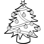 Christmas Trees, Christmas Trees With A Lot Of Ornaments Coloring Pages: Christmas Trees with a Lot of Ornaments Coloring Pages