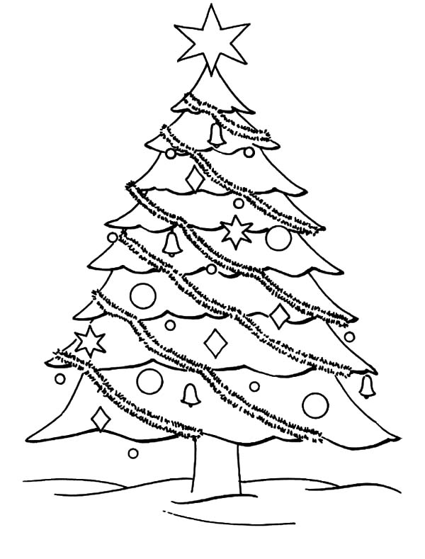 Christmas Trees, : Decorate Your Christmas Trees Coloring Pages