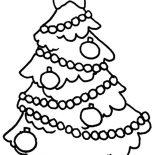 Christmas Trees, Decorated Christmas Tree Coloring Pages Printable: Decorated Christmas Tree Coloring Pages printable