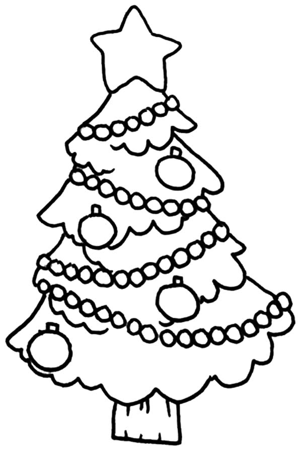 Christmas Trees, : Decorated Christmas Tree Coloring Pages printable