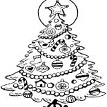 Christmas Trees, Decorating Christmas Trees With Candy Cane And Dove Coloring Pages: Decorating Christmas Trees with Candy Cane and Dove Coloring Pages