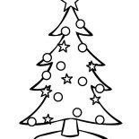 Christmas Trees, Decorating Christmas Trees With Stars Coloring Pages: Decorating Christmas Trees with Stars Coloring Pages