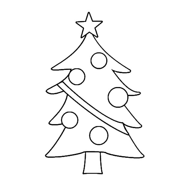 Christmas Trees, : Drawing Christmas Trees Coloring Pages
