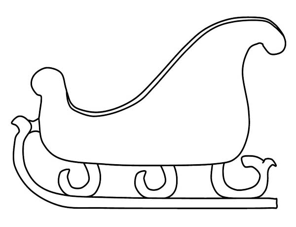 Winter, : Fancy Santas Sleigh for Winter Season Events Coloring Page