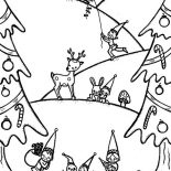 Winter, Happy Winter Season And Christmas Event Coloring Page: Happy Winter Season and Christmas Event Coloring Page