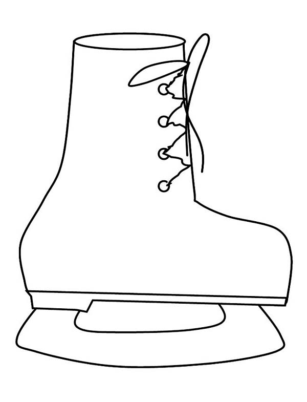 Winter, : Lovely Skate Boots for Winter Season Activity Coloring Page