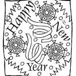 New Year, New Years Eve Greeting Message On 2015 New Year Coloring Page: New Years Eve Greeting Message on 2015 New Year Coloring Page