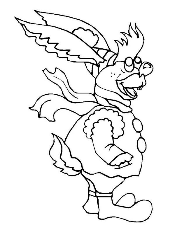 Winter, : Ugly Rabbit on Complete Winter Season Outfit Coloring Page