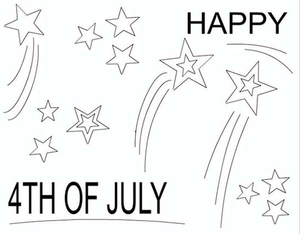Independence Day, : A Joyful and Happy Independence Day Event Coloring Page