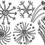 Independence Day, Amazing Fireworks In The Sky On Independence Day Event Coloring Page: Amazing Fireworks in the Sky on Independence Day Event Coloring Page
