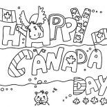 Canada Day, Banner Design For Canada Day 2015 Coloring Pages: Banner Design for Canada Day 2015 Coloring Pages