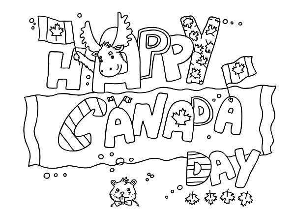 Canada Day, : Banner Design for Canada Day 2015 Coloring Pages