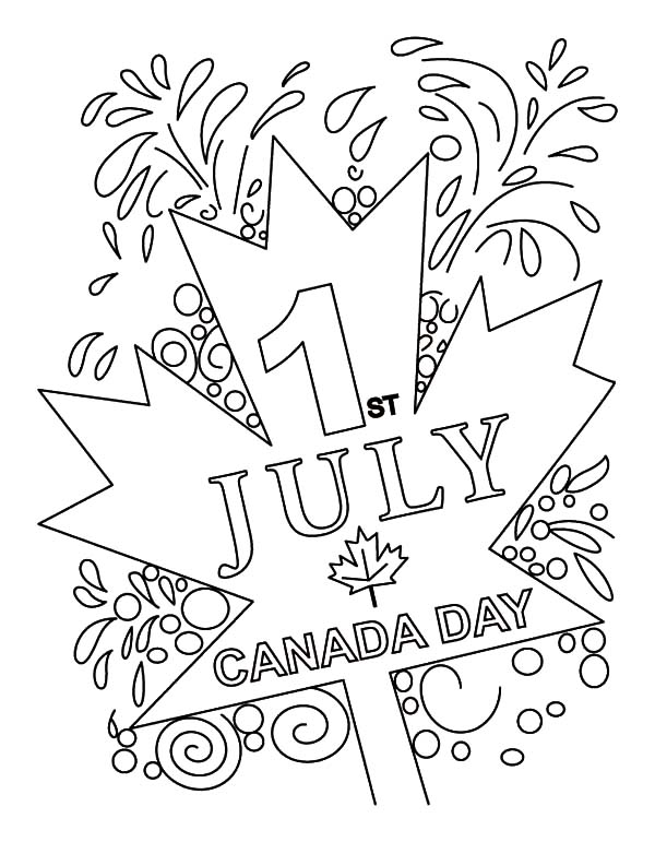 Canada Day, : Canada Day 2015 at July 1st Coloring Pages