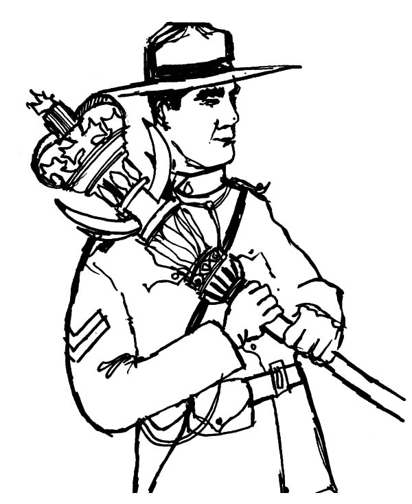 Canada Day, : Canadian Ranger on Canada Day 2015 Coloring Pages