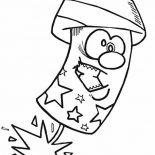 Independence Day, Cartoon Firecrackerer On Independence Day Event Coloring Page: Cartoon firecrackerer on Independence Day Event Coloring Page