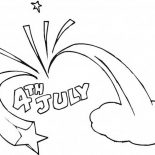Independence Day, Celebration Of Independence Day Event Coloring Page: Celebration of Independence Day Event Coloring Page
