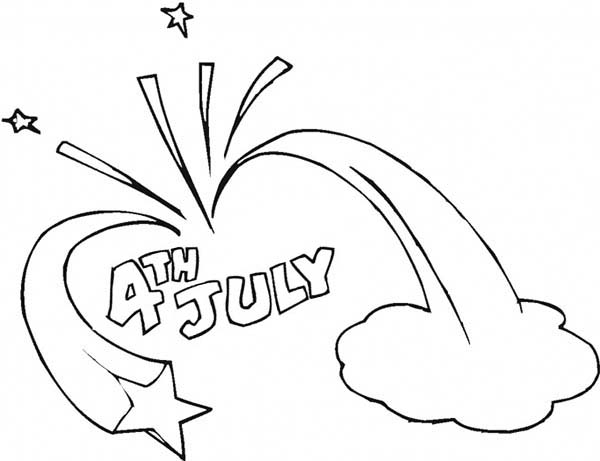 Independence Day, : Celebration of Independence Day Event Coloring Page