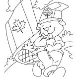 Canada Day, Cute Beaver Boyscout On Canada Day 2015 Coloring Pages: Cute Beaver Boyscout on Canada Day 2015 Coloring Pages