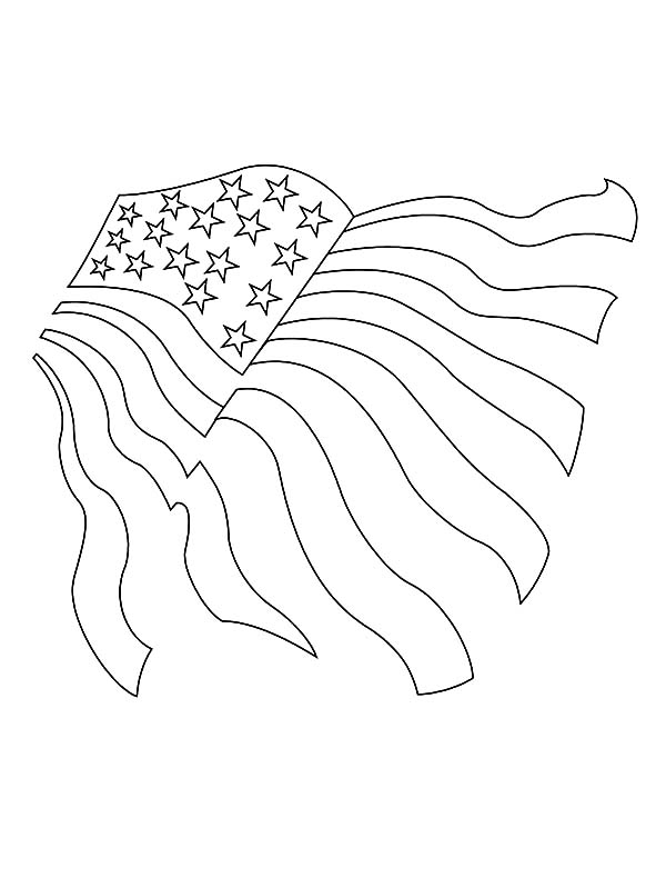 Independence Day, : Drawing USA Flag for Independence Day Event Coloring Pages 2