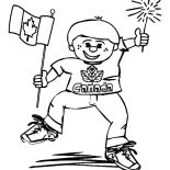 Canada Day, Funny Boy On Canada Day 2015 Coloring Pages: Funny Boy on Canada Day 2015 Coloring Pages