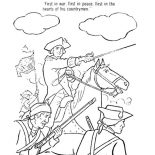 Independence Day, George Washington Lead USA For Independence Day Event Coloring Pages: George Washington Lead USA for Independence Day Event Coloring Pages