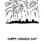 Canada Day, Great Fireworks On Canada Day 2015 Coloring Pages: Great Fireworks on Canada Day 2015 Coloring Pages