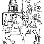Canada Day, Horse Patrol On Canada Day 2015 Coloring Pages: Horse Patrol on Canada Day 2015 Coloring Pages