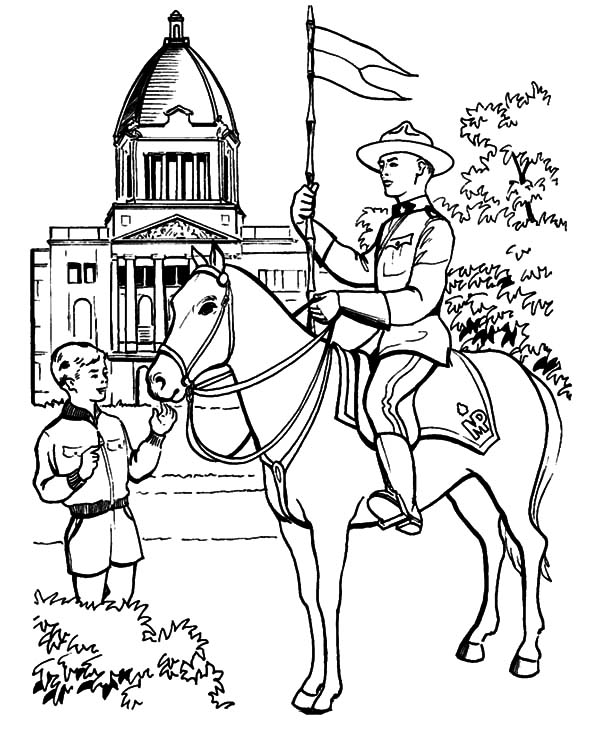 Canada Day, : Horse Patrol on Canada Day 2015 Coloring Pages