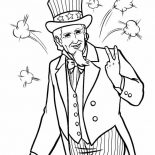 Independence Day, Image Of Uncle Sam On Independence Day Event Coloring Page: Image of Uncle Sam on Independence Day Event Coloring Page