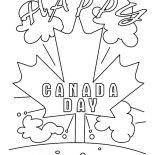 Canada Day, Its A Happy Canada Day 2015 Coloring Pages: Its a Happy Canada Day 2015 Coloring Pages
