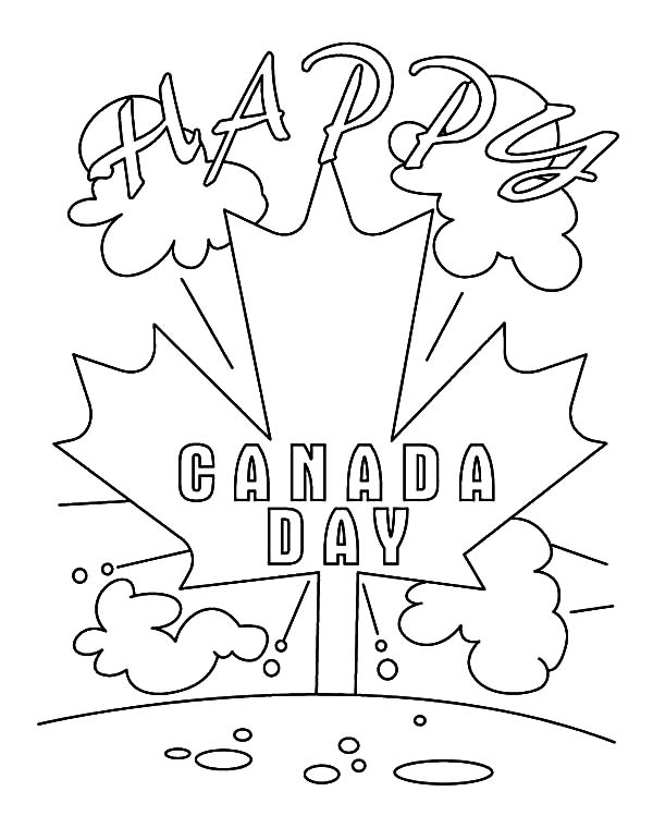 Canada Day, : Its a Happy Canada Day 2015 Coloring Pages