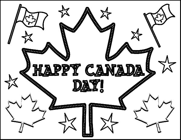 Canada Day, : Joyful Celebration on Canada Day 2015 Coloring Pages