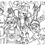 Canada Day, Kids Celebrating  Canada Day 2015 On The Street Coloring Pages: Kids Celebrating  Canada Day 2015 on the Street Coloring Pages