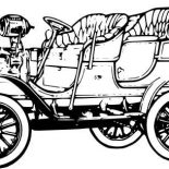Model t Car, 1906 Model T Car Coloring Pages: 1906 Model T Car Coloring Pages