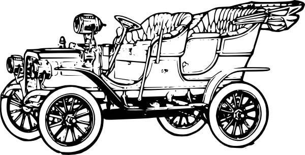 model t car outline coloring pages