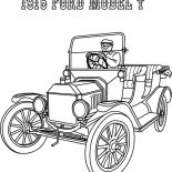 Model t Car, 1915 Ford Model T Car Coloring Pages: 1915 Ford Model T Car Coloring Pages