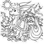 Mexican Donkey, A Magical Mexican Donkey Coloring Pages: A Magical Mexican Donkey Coloring Pages