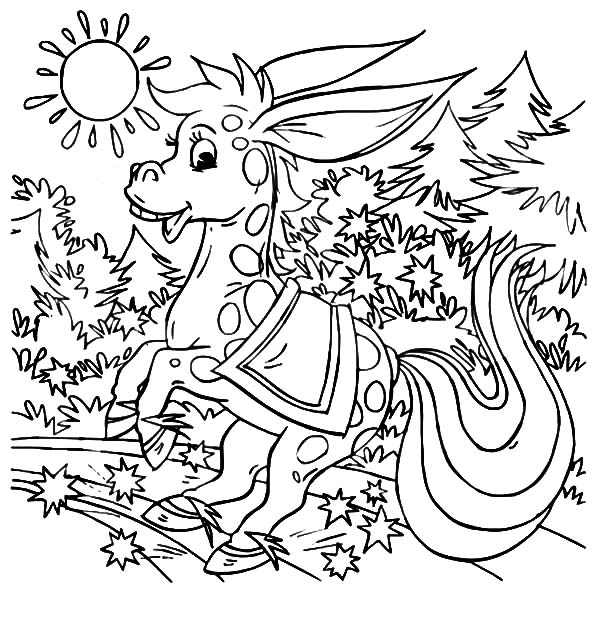 Mexican Donkey, : A Magical Mexican Donkey Coloring Pages