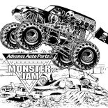 Monster Jam, Advance Auto Parts Monster Jam Coloring Pages: Advance Auto Parts Monster Jam Coloring Pages