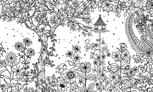 Garden, : Amazing Secret Garden Coloring Pages