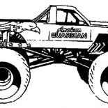Monster Jam, American Guardian Monster Jam Coloring Pages: American Guardian Monster Jam Coloring Pages