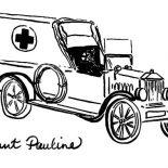 Model t Car, Aunt Pauline Model T Car Coloring Pages: Aunt Pauline Model T Car Coloring Pages
