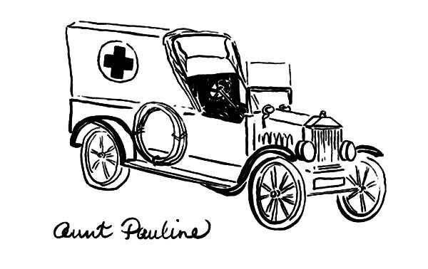 Model t Car, : Aunt Pauline Model T Car Coloring Pages