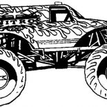 Monster Jam, Awesome Monster Truck In Monster Jam Coloring Pages: Awesome Monster Truck in Monster Jam Coloring Pages