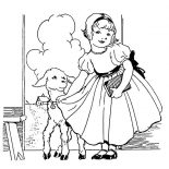 Mary Had a Little Lamb, Beautiful Mary Had A Little Lamb Coloring Pages: Beautiful Mary Had a Little Lamb Coloring Pages