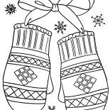Mittens, Beautiful Mittens Coloring Pages: Beautiful Mittens Coloring Pages