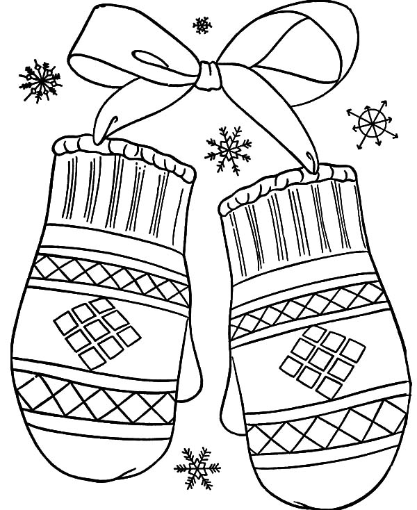 Mittens, : Beautiful Mittens Coloring Pages