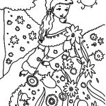 Garden, Beautiful Princess Garden Coloring Pages: Beautiful Princess Garden Coloring Pages